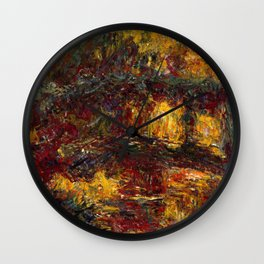 1920-Claude Monet-The Japanese Footbridge, Giverny-89 x 94 Wall Clock