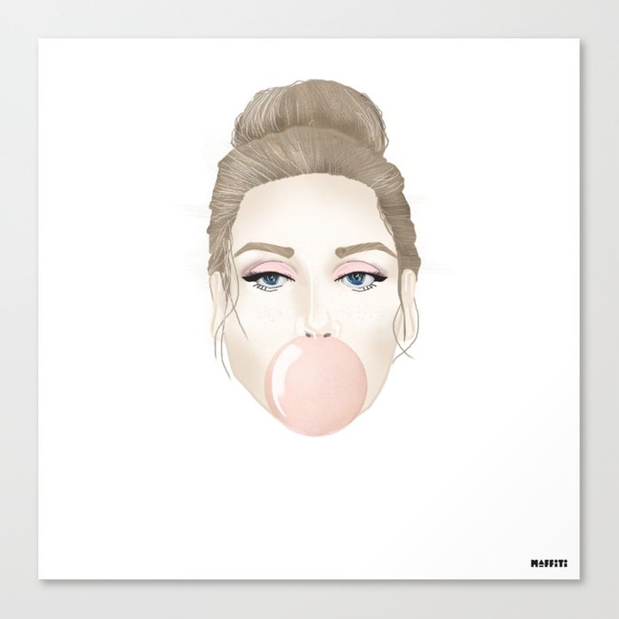 Covergirl bubblegum Canvas Print