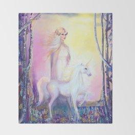 Princess and Unicorn Throw Blanket