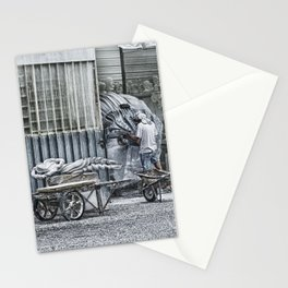 Marble Sculptor in Italy Stationery Cards
