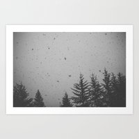 The Snow is Falling Art Print