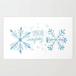 Special Snowflake (Blue) Art Print