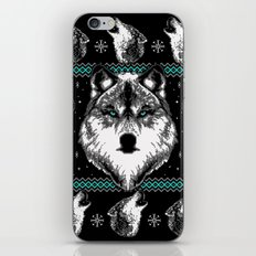 Merry Wolfmas iPhone & iPod Skin
