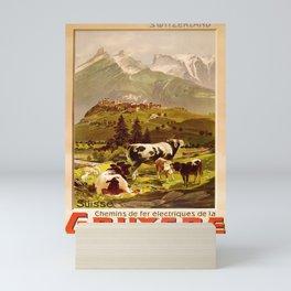 retro  Gruyere vintage poster Mini Art Print