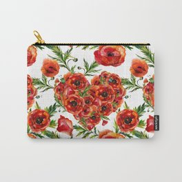 Poppy Heart pattern Carry-All Pouch