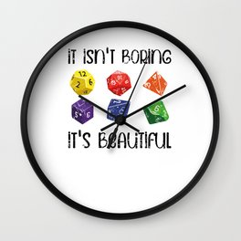 RPG Cube role playing game Wall Clock