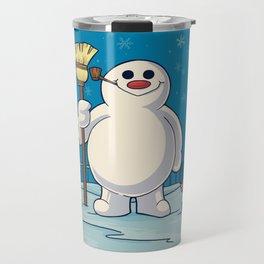 Let's Build a Snowman! Travel Mug