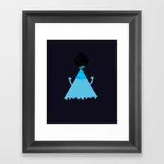 Volcanoes Love to Party Framed Art Print