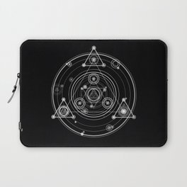 Sacred geometry black and white geometric art Laptop Sleeve