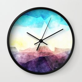 In the sea- abstract watercolor - Original triangle pattern Wall Clock
