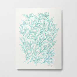 Branches – Mint Palette Metal Print