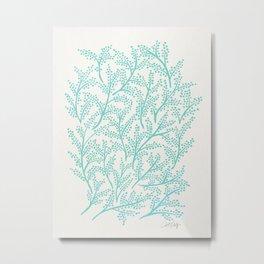 Branches – Mint Palette Metal Print