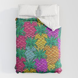 Tropical Pineapples Comforters