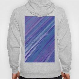 Acrylic brush strokes background - purple and blue Hoody
