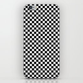Black and White Checkerboard Pattern iPhone Skin