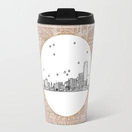 Oklahoma City, Oklahoma City Skyline Illustration Drawing Travel Mug