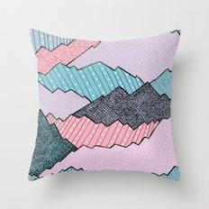 Mountain Tones Throw Pillow