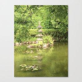 Pond at the Japanese Tea Garden in San Francisco Canvas Print