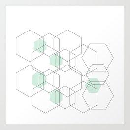 Modern Hexagon Design Art Print