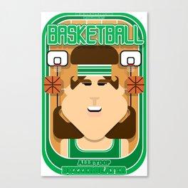 Basketball Green - Alleyoop Buzzerbeater - June version Canvas Print