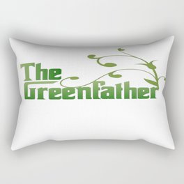 The Greenfather An Earthday Parody Rectangular Pillow