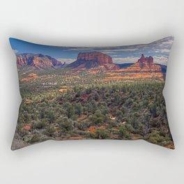 Bell Rock Courthouse Butte of Sedona Panorama Rectangular Pillow