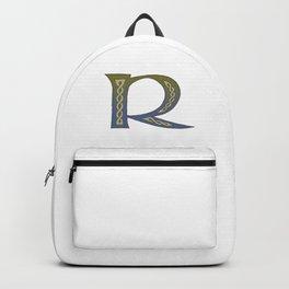 Celtic Knotwork Alphabet - Letter R Backpack