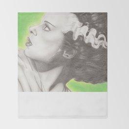 The Bride of Frankenstein  Throw Blanket