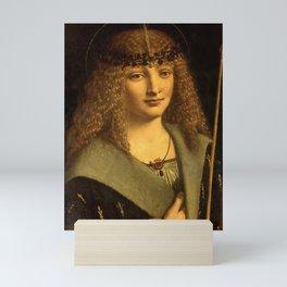 "Giovanni Antonio Boltraffio ""Portrait of a boy as Saint Sebastian"" Mini Art Print"
