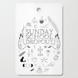 Art School Dropout (black) Cutting Board