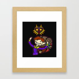 Happy Mask Salesman Framed Art Print