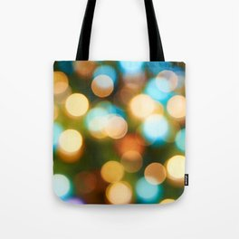 Abstract holiday Christmas background with blue and yellow Tote Bag