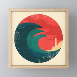 The wild ocean Framed Mini Art Print