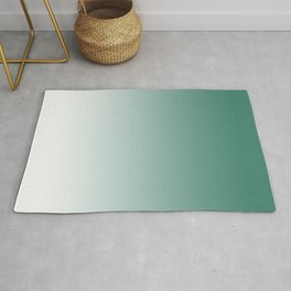 Ombre Viridian Sea Green Rug