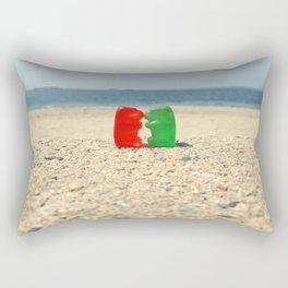 Gummy Bear Beach Kiss Rectangular Pillow