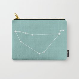 Capricorn Zodiac Constellation - Teal Carry-All Pouch