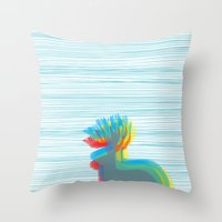 jackalope Throw Pillows featuring Jackalope by Glassy