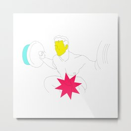 Sexy Male with a Star Metal Print