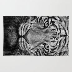 Tiger Black & White Rug