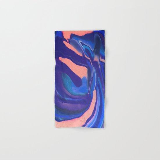 Peachy Blue Marbling Pantone Hand & Bath Towel