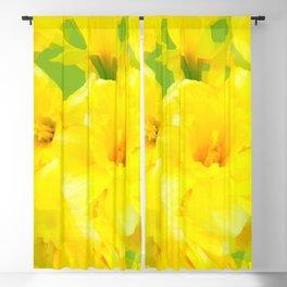 Spring Bouquet Yellow Daffodils #decor #society6 #buyart Blackout Curtain