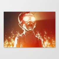 boss Canvas Prints featuring FIREEE! by Dr. Lukas Brezak