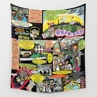 comic Wall Tapestries featuring Vivita Spa KOMIX #1 by Tex Watt