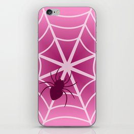 Spider web in pink iPhone Skin