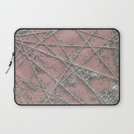 Sparkle Net Pink Laptop Sleeve