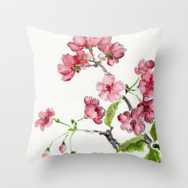 La Fleur de Malus Throw Pillow