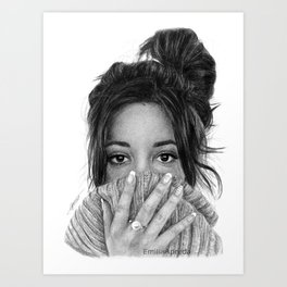 Camila Cabello Jumper Drawing Art Print