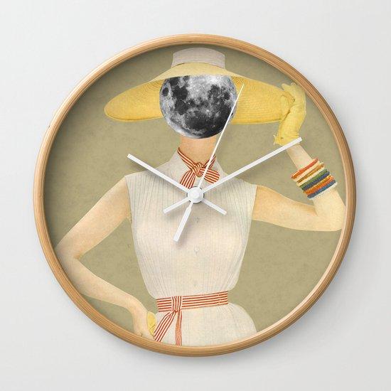 Moon Beauty Wall Clock