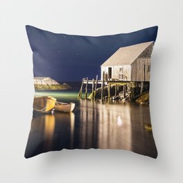 Sleepy Peggy's Cove Throw Pillow