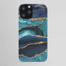 Ocean Blue Mermaid Marble iPhone Case